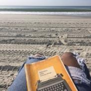 Writing on the beach calms me as well.