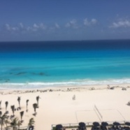View from hotel room! Cancun, Mexico